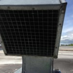 Commercial dryer vent screen clean