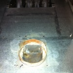 Furnace exhaust manifold after cleaning