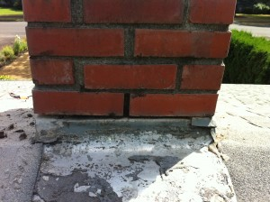 Before the flashing was repaired