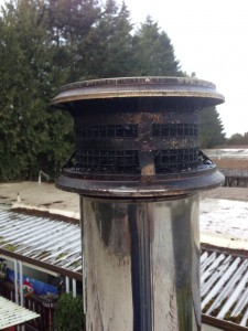 Plugged chimney cap